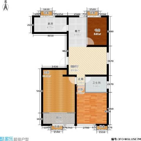 大舜天成中国盒子3室1厅1卫1厨149.00㎡户型图