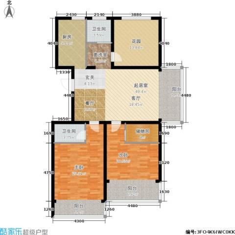 华夏春晓二期2室0厅2卫0厨136.00㎡户型图