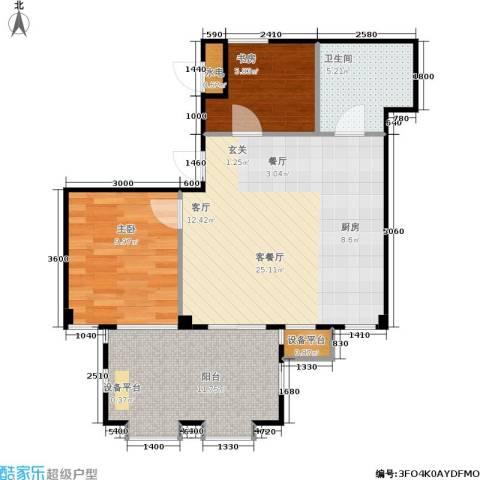 唯美品格2室1厅1卫0厨80.00㎡户型图