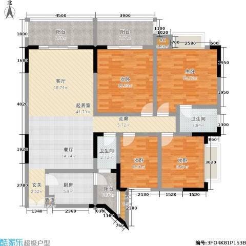 五童路后勤基地4室0厅2卫1厨123.00㎡户型图