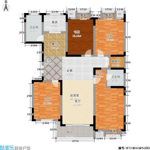 华夏春晓二期4室0厅2卫1厨166.00㎡户型图