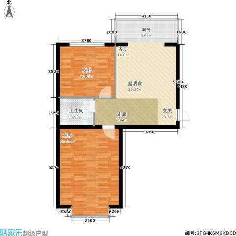 柒季城2室0厅1卫0厨74.00㎡户型图