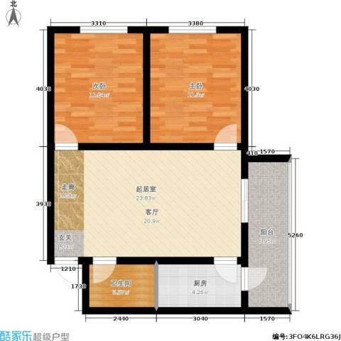MINI国度2室0厅1卫1厨71.00㎡户型图