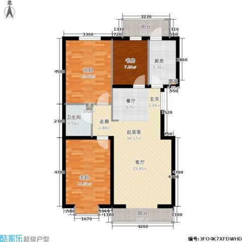 秀水馨园3室0厅1卫1厨94.39㎡户型图