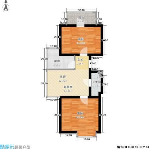 秀水馨园2室0厅1卫1厨55.90㎡户型图