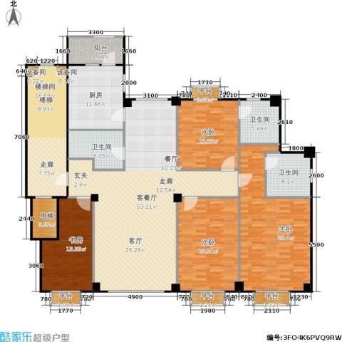 米兰DC二期4室1厅3卫1厨207.00㎡户型图