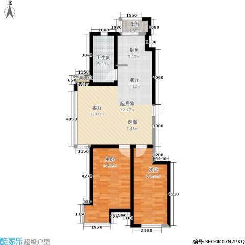 长安佳园2室0厅1卫0厨88.00㎡户型图