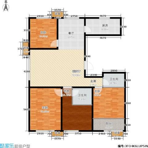 大舜天成中国盒子4室1厅2卫1厨200.00㎡户型图