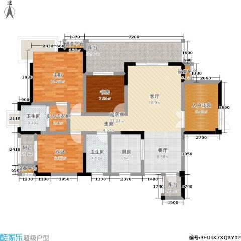 龙港红树林3室0厅2卫1厨156.00㎡户型图