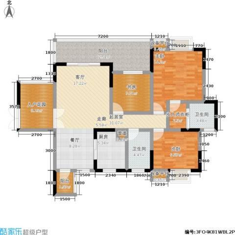 龙港红树林3室0厅2卫1厨150.00㎡户型图