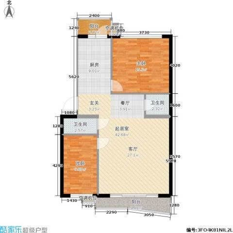 润成水云天2室0厅2卫0厨111.00㎡户型图