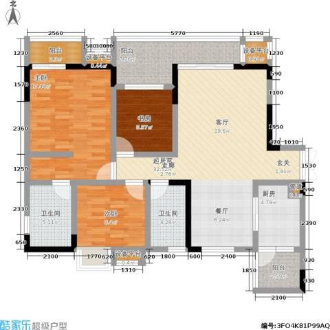 龙港红树林3室0厅2卫1厨140.00㎡户型图
