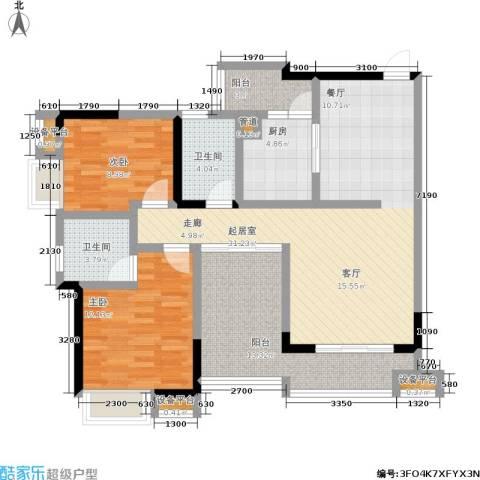 龙港红树林2室0厅2卫1厨123.00㎡户型图