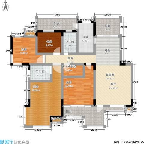 龙港红树林4室0厅2卫1厨120.00㎡户型图