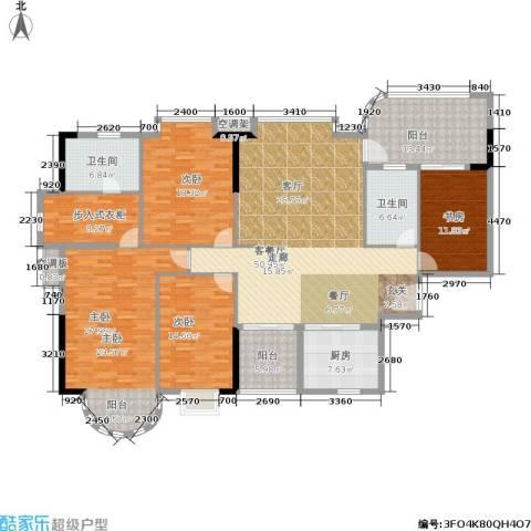 南海颐景园4室1厅2卫1厨191.00㎡户型图