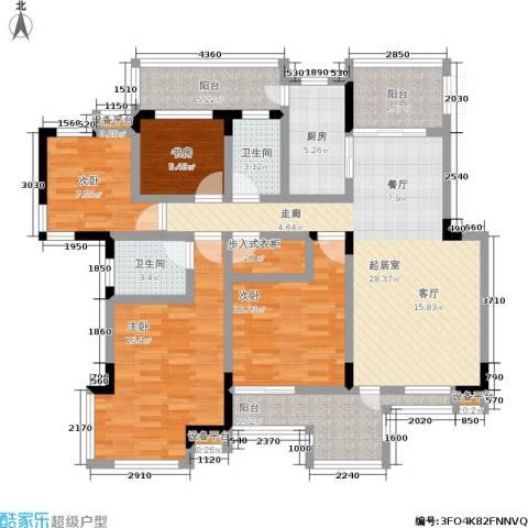 龙港红树林4室0厅2卫1厨151.00㎡户型图