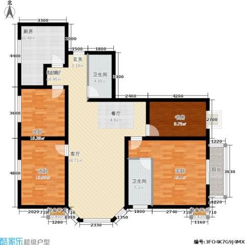 银海水韵(二期华泰御景)4室1厅2卫1厨165.00㎡户型图