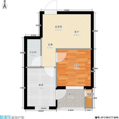 长安佳园1室0厅1卫1厨46.00㎡户型图