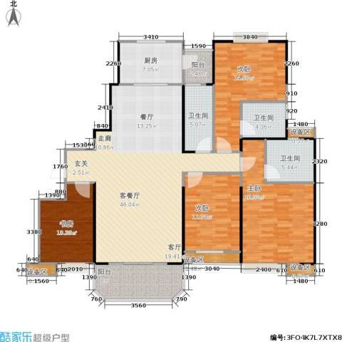 三明碧桂园4室1厅3卫1厨162.00㎡户型图