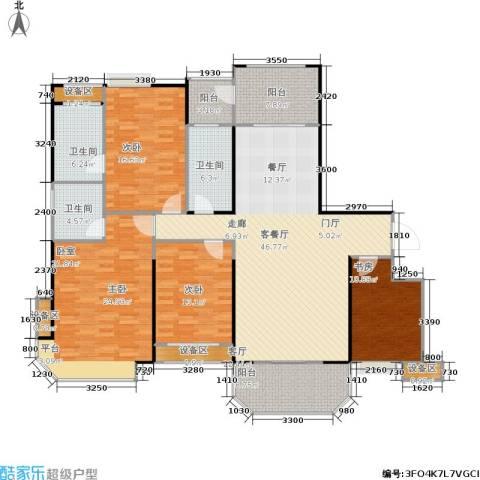 三明碧桂园4室1厅3卫0厨164.00㎡户型图