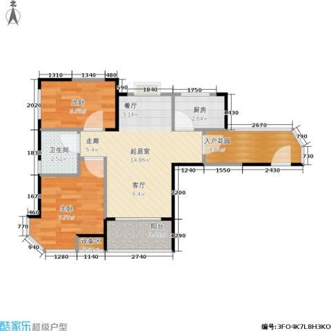 三明碧桂园2室0厅1卫1厨80.00㎡户型图