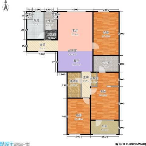 朗诗国际街区3室0厅2卫1厨122.48㎡户型图