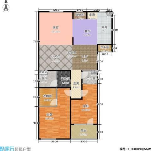朗诗国际街区2室0厅2卫0厨113.30㎡户型图
