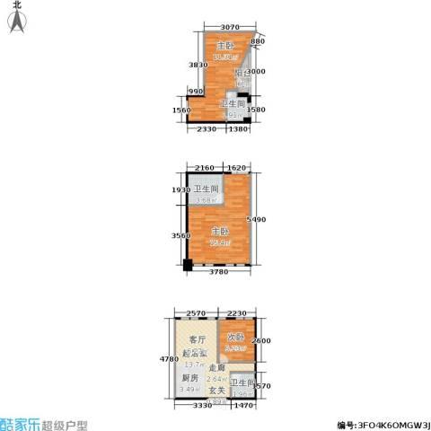 名品城二期3室0厅3卫0厨75.00㎡户型图