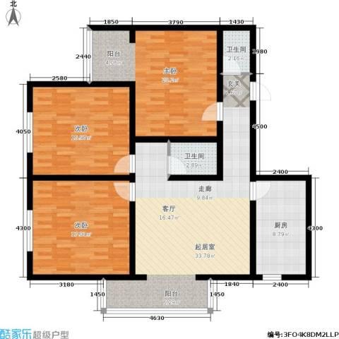 都市T站3室0厅2卫1厨115.00㎡户型图