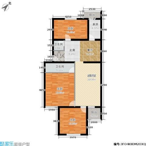 都市T站3室0厅2卫1厨113.00㎡户型图