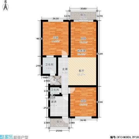 东港生活城2室0厅2卫1厨94.00㎡户型图