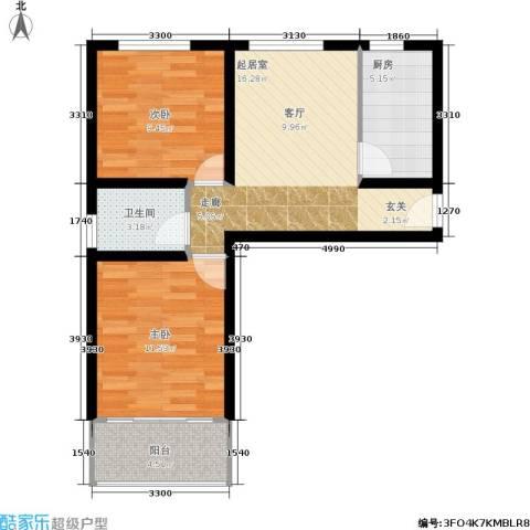 太行水乡度假小区2室0厅1卫1厨59.00㎡户型图