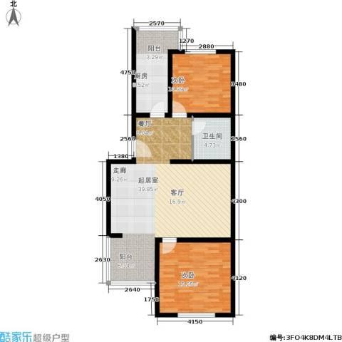 都市T站2室0厅1卫1厨89.00㎡户型图