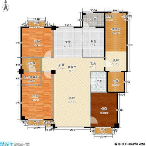 米兰DC二期3室1厅2卫1厨137.00㎡户型图