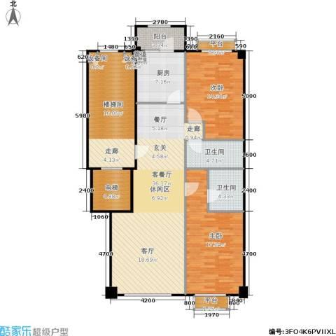 米兰DC二期2室1厅2卫1厨116.00㎡户型图