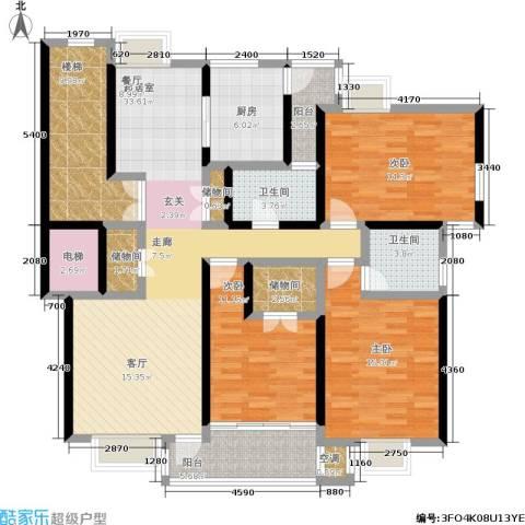 新世界花园3室0厅2卫1厨136.00㎡户型图