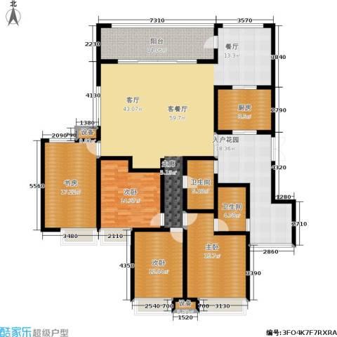 西双十贰城4室1厅2卫1厨245.00㎡户型图
