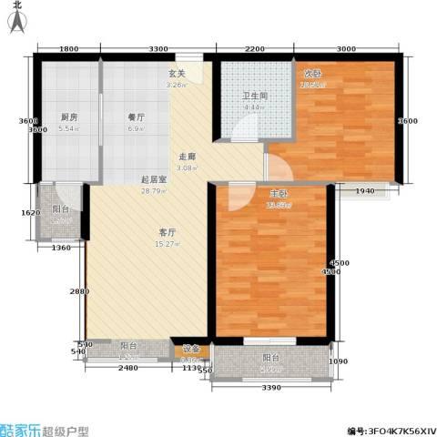 太原君泰风尚国际2室0厅1卫1厨101.00㎡户型图