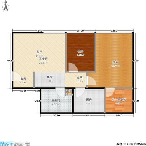金易城市之光1室1厅1卫1厨60.54㎡户型图