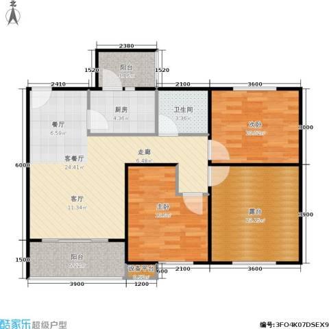 松竹苑2室1厅1卫1厨74.70㎡户型图