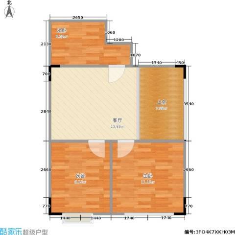 光宇阳光新世界3室1厅0卫0厨71.00㎡户型图