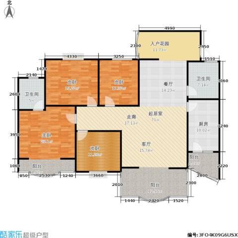 白龙嘉和丽景4室0厅2卫1厨210.00㎡户型图