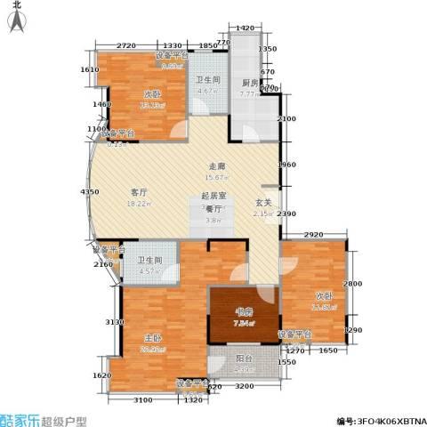 嘉业阳光城4室0厅2卫1厨137.00㎡户型图