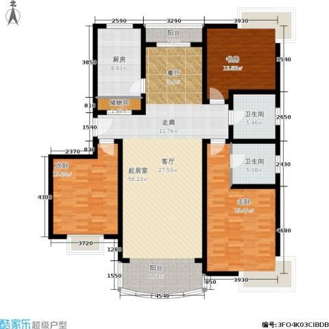 雍江星座3室0厅2卫1厨143.00㎡户型图