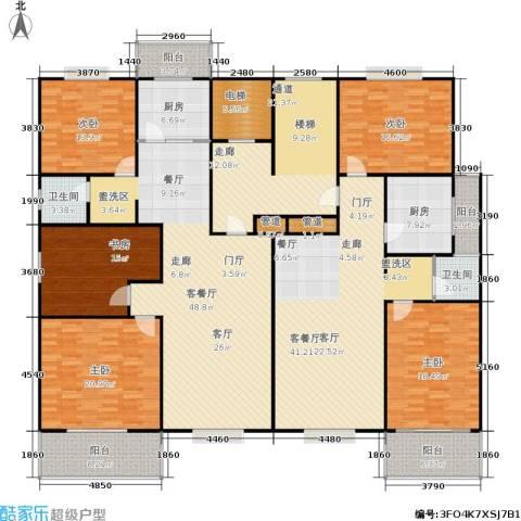 曲江汇景新都5室2厅2卫2厨245.93㎡户型图
