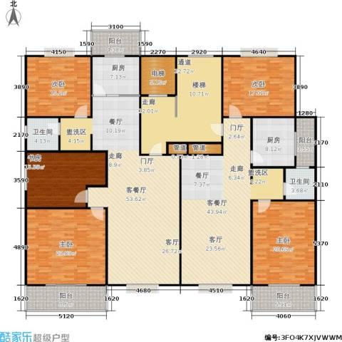 曲江汇景新都5室2厅2卫2厨264.18㎡户型图