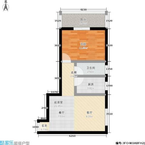 晟丰阁1室0厅1卫1厨53.00㎡户型图