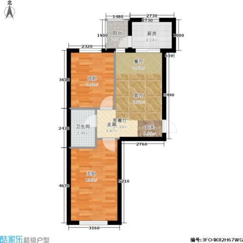 泰和轩2室1厅1卫1厨54.00㎡户型图