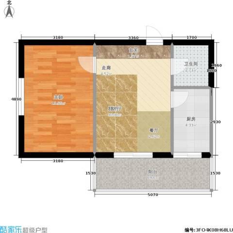 泰和轩1室1厅1卫1厨48.00㎡户型图