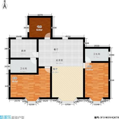 吉泰家园3室0厅2卫1厨127.00㎡户型图